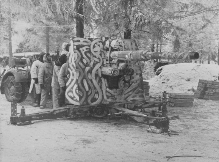 Camouflé allemand de 88 mm pistolet