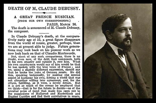 25th March 1918 - Death of Claude Debussy | by Bradford Timeline