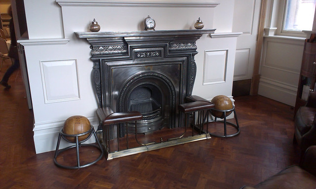 Memorial Hall fire-place