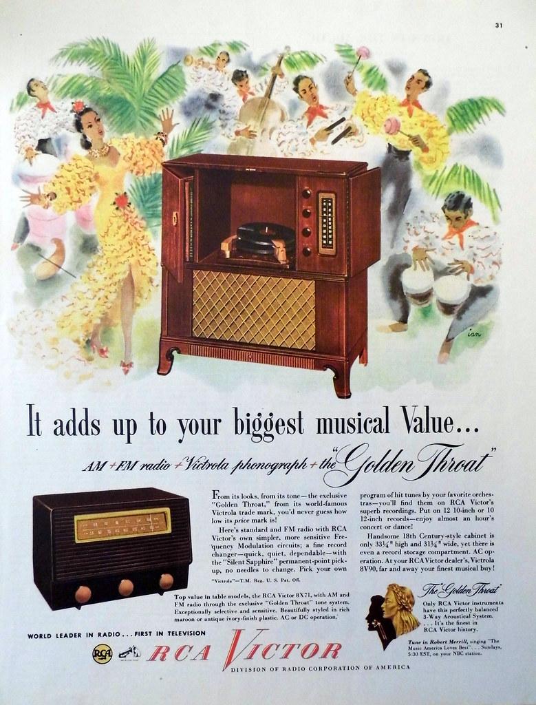 Vintage Radio Advertising - RCA Victor,