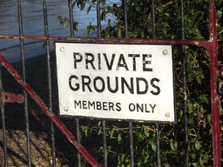 Private Grounds Members Only - Stratford Boat Club | by ell brown