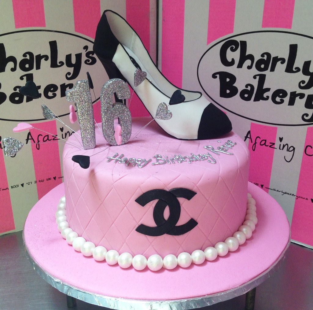 Miraculous Coco Chanel Inspired Sweet 16Th Birthday Cake With Quilted Flickr Funny Birthday Cards Online Overcheapnameinfo
