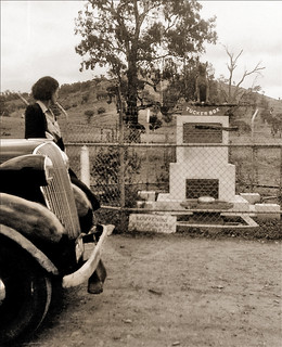 Early 1946 - Honor Murphy at the Dog on the Tuckerbox, 9 miles (N) of Gundagai, New South Wales, Australia