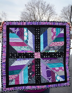 """Plumes of Orchid"" mini quilt 