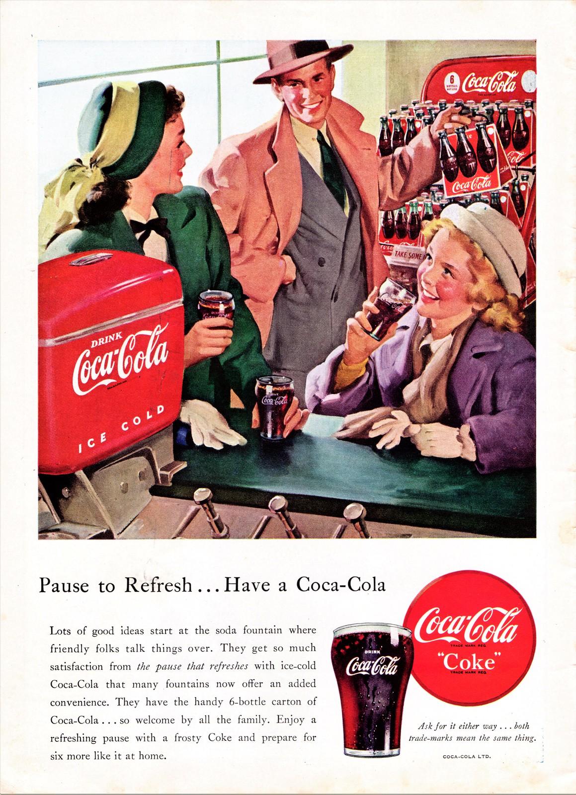 Coca-Cola Ad, 1948