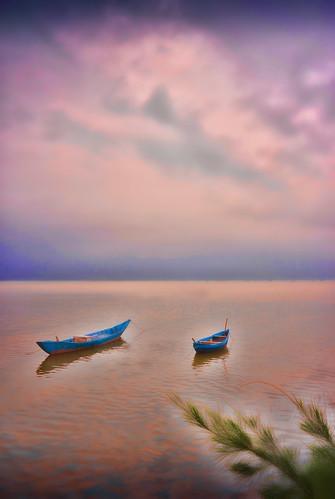 art boats danang dreamy holidays mangojouneys riverscapes serenity topazlabs vietnam