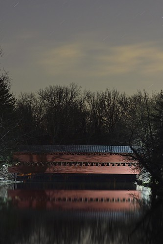 nikon d500 landscape nature stars gettysburg sachs covered bridge tree reflection pa