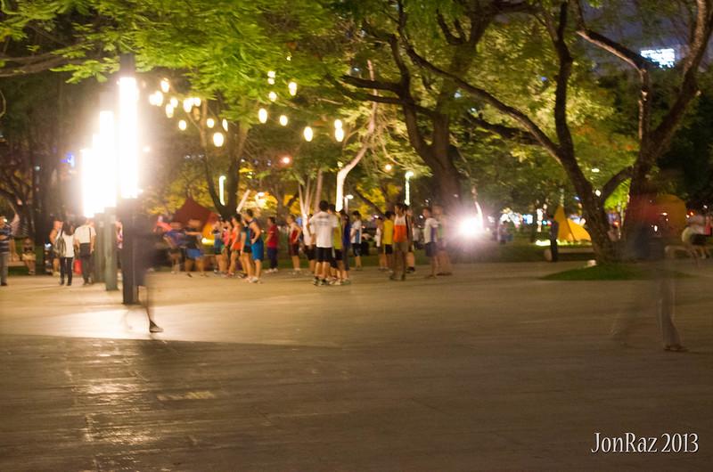 Ayala Triangle at Night