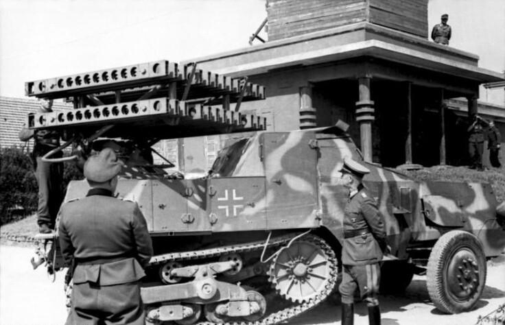 """Panzerwerfer auf Halbkettenfahrzeug """"Maultier"""""""