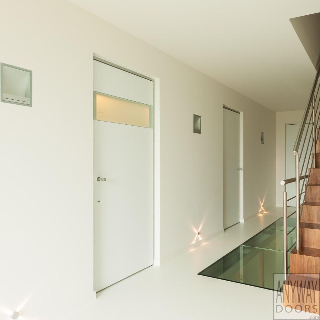 Deur Met Glas.Witte Moderne Deur Met Glas En Aluminium Greep Anyway Doors Flickr