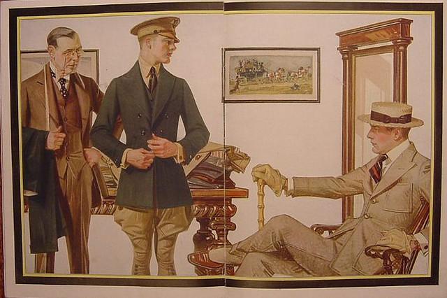 J.C. Leyendecker -1918 Kuppenheimer Ad - Suitfitting
