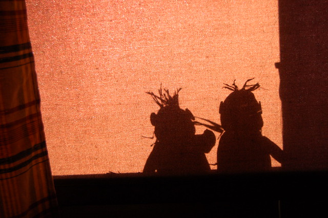 Shadow Couple in the window