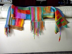 Color On Color scarf FINISHED! (Scarf Style) | by gudrunthered