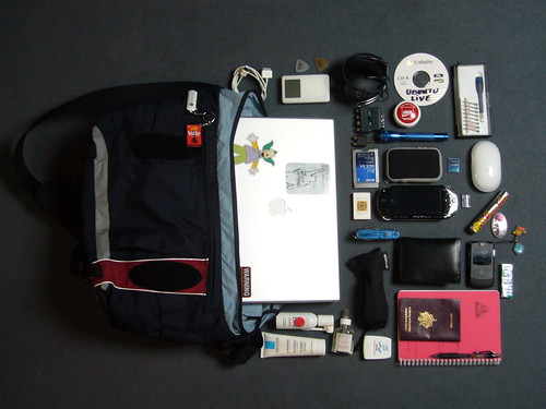 What's in my bag | by Julien Menichini