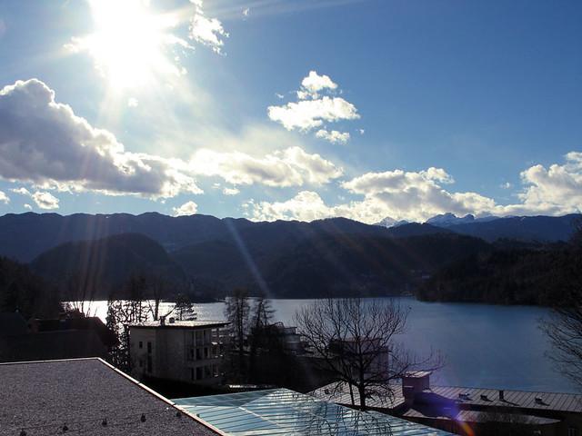 Sunshine on lake Bled