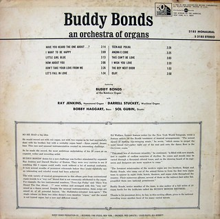 Buddy Bonds - An Orchestra of Organs (back) | by Unpleasant Dot Org