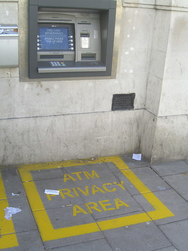 ATM privacy area | by cackhanded