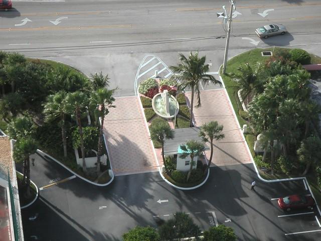 View From Rooftop Of Tiara Condo, Singer Island, Florida Onto Entrance - IMRAN™ -- 1500+ Views!