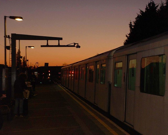 London tube at Parson's green station