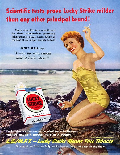Lucky Strike Cigarettes - Janet Blair | by midcenturypress
