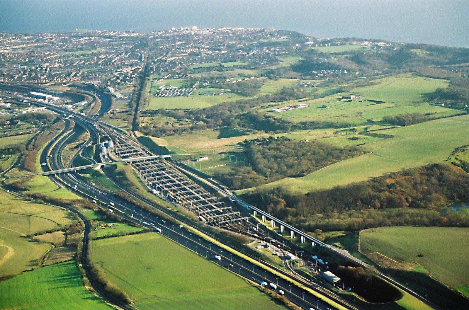 Channel Tunnel terminal, Cheriton
