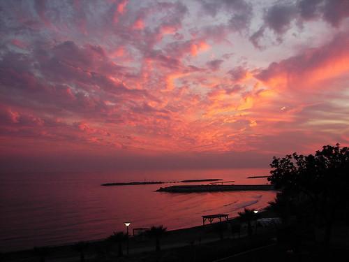 sunset sea sky orange clouds bestof view cyprus h1 limassol crazyclouds dsch1 lemesos abigfave