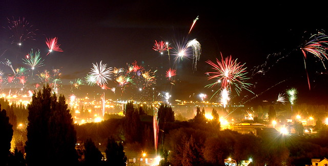 Christmas Eve, midnight, El Calafate