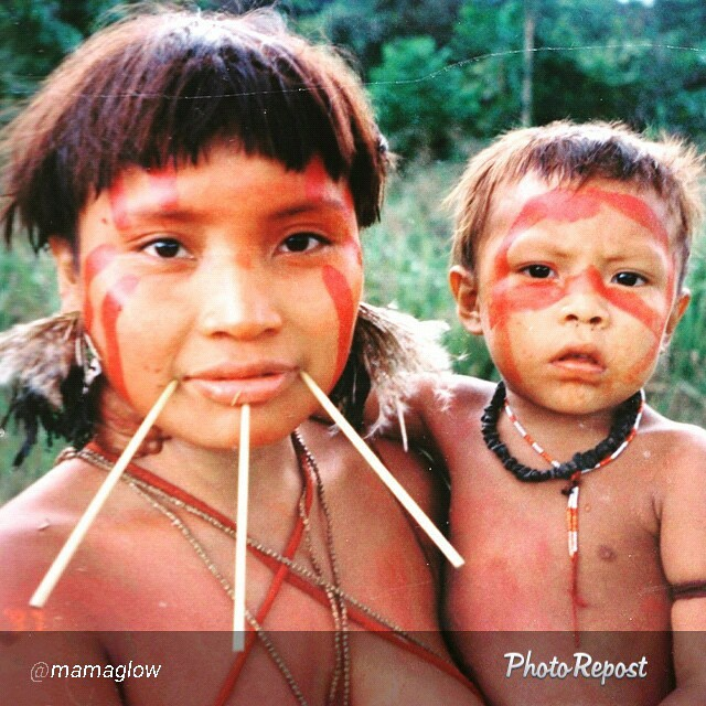 "By @mamaglow ""Glow Moment. Mama & Son! Yanomami tribe of Brazil #glowtime #tribe #motherhood #mamaglow #baby #brazil #yanomami"" via @PhotoRepost_app"