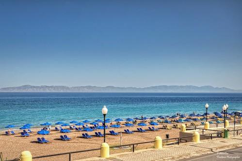 Akti Kanari Beach in Rhodes Town   by Abariltur