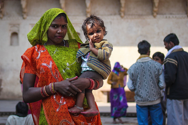 Mother and Child at Orchha