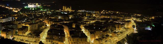 Alcañiz  en invierno, dormida al frio de la noche, la capital del Bajo Aragón