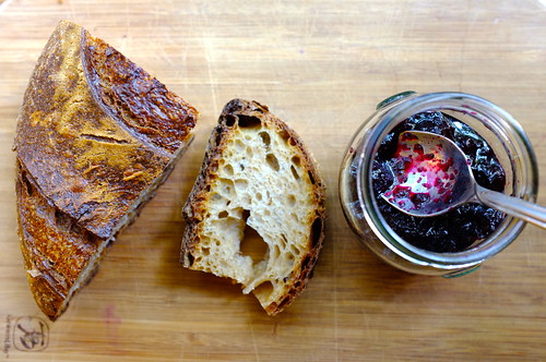 bread and homemade blueberry preserves   by Premshree Pillai