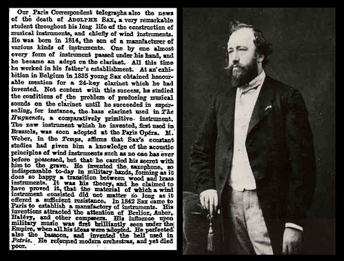 4th February 1894 - Death of Adolphe Sax | by Bradford Timeline