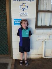 Girl Guide at Guide Hall