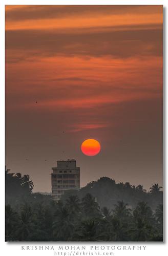 sunset orange india asia eveningsky karnataka mangalore focallength dakshinakannada derebail
