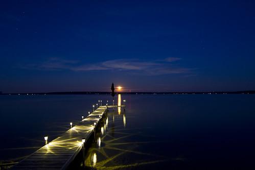 moonrise over mullett lake - desktop   by VSELLIS