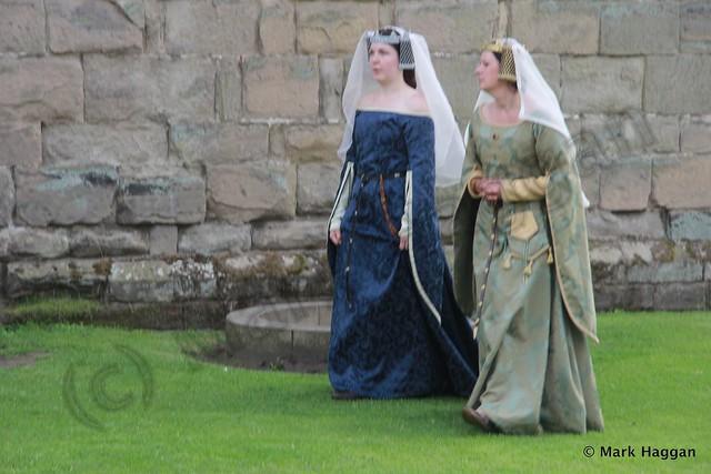 Two women at Ashby de la Zouch Castle