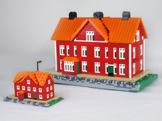Ågården in two different scales