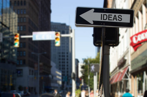A sign pointing to new ideas | by ota_photos
