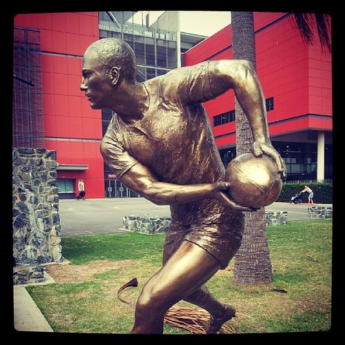 Darren Lockyer statue, Suncorp Stadium | by RaeAllen