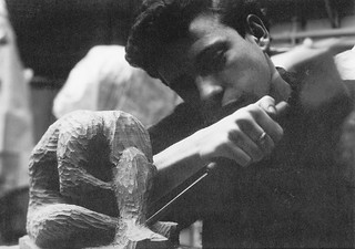 Sculpting in the studios in the 1960s
