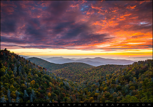blue mountains sunrise landscape nc northcarolina ridge parkway blueridgeparkway daveallen appalachians wnc