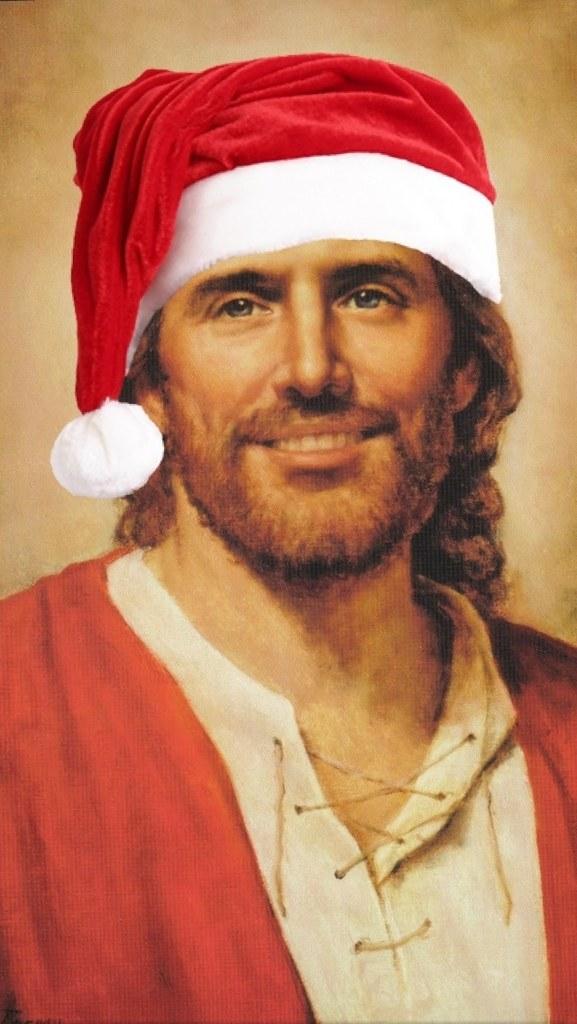 Jesus Christ Santa Hat Iphone 5 Wallpaper Wfiphone Silva