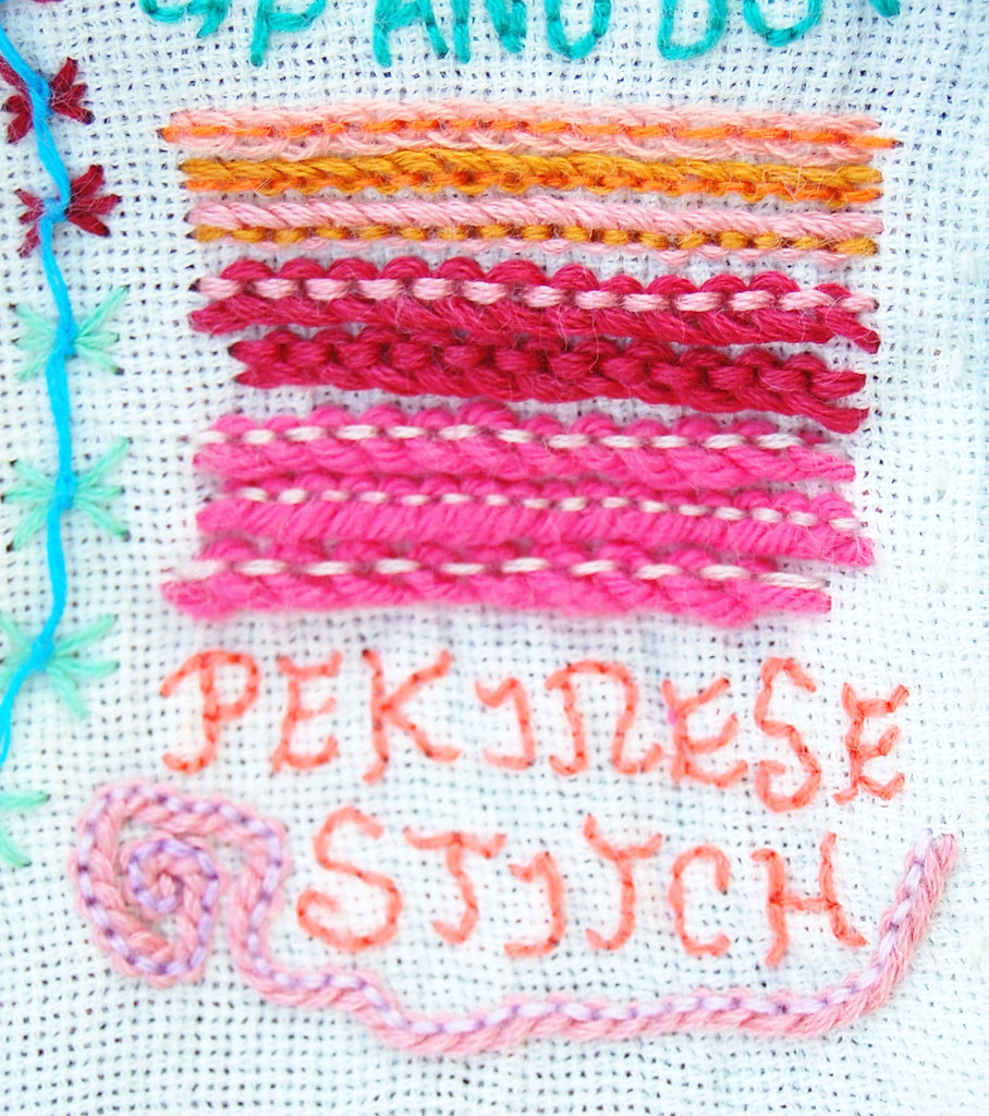 Image result for pekinese stitch embroidery