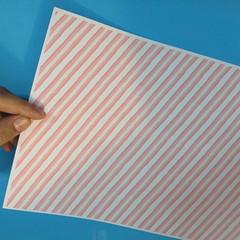 วิธีพับกล่องกระดาษรูปหัวใจส่วนฐานกล่อง 001