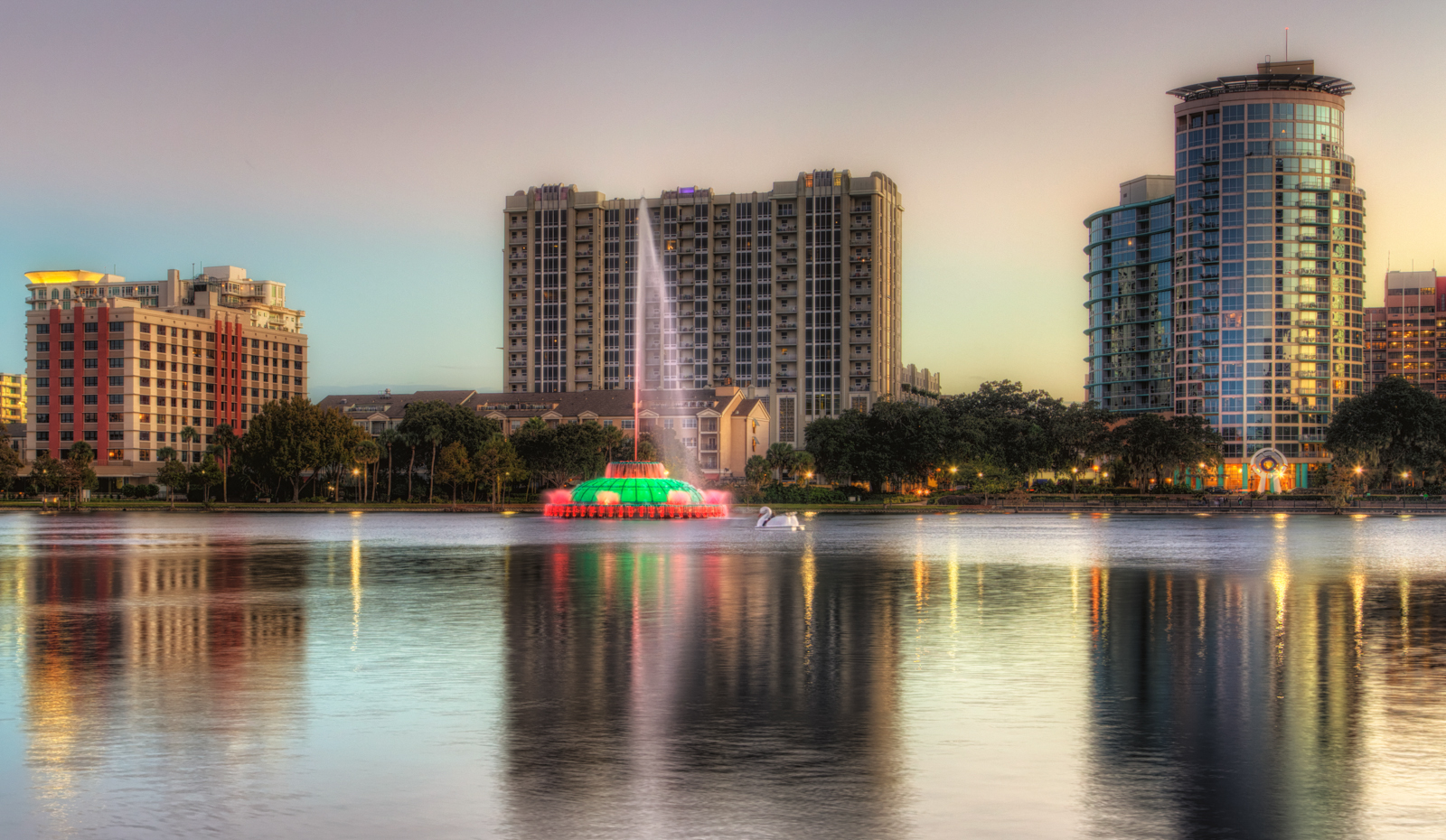 Lake Eola Fountain and Condos