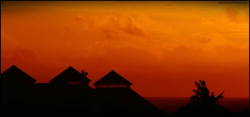 travel sunset bali orange canon indonesia photography sillhouette legian 6d