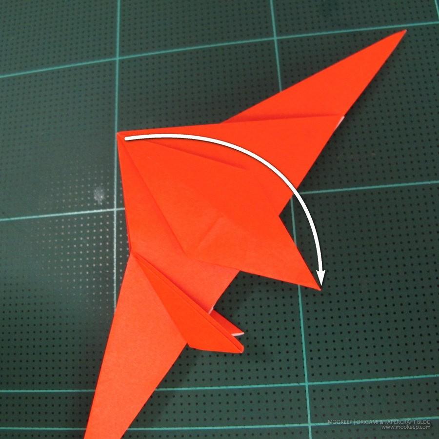 วิธีการพับกระดาษเป็นรูปไดโนเสาร์ (Origami Dinosaur) 011