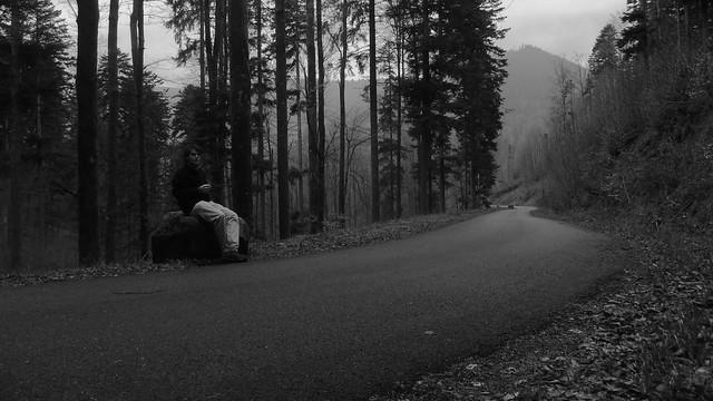 Autoportrait au bord de la route