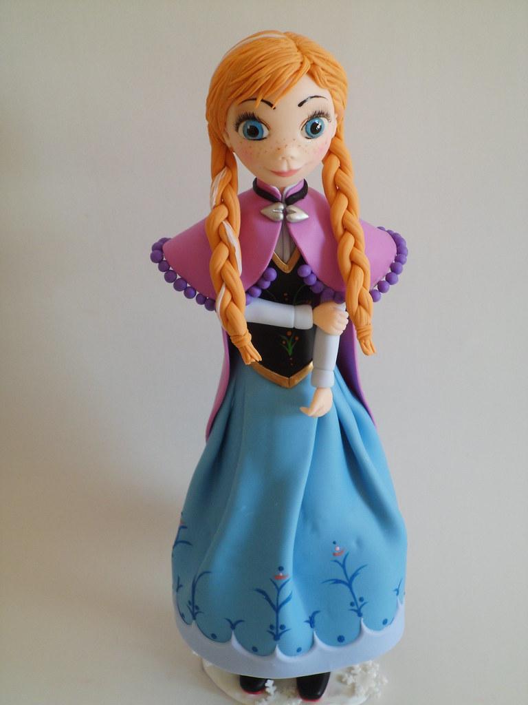 Minha Anna Do Filme Frozen Modelada Em Biscuit Rosinha Di